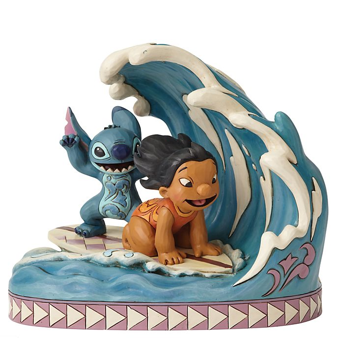 "Enesco Figurine Lilo & Stitch ""Prends la vague"", Disney Traditions"
