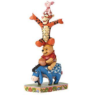 Figurita Winnie the Pooh, Built by Friendship, Disney Traditions, Enesco