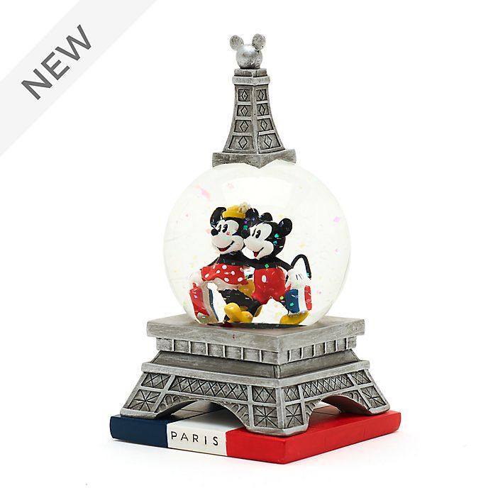 Disney Store Mickey and Minnie Paris Snow Globe