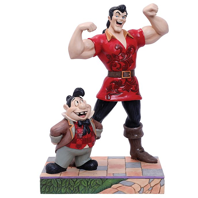 Enesco Gaston and LeFou Muscle-Bound Menace Disney Traditions Figurine