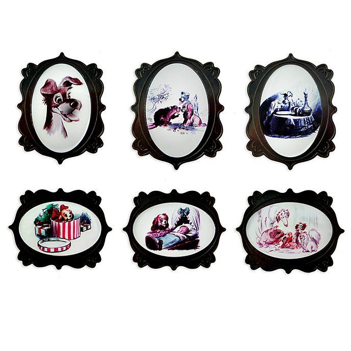 Set pins La Dama y el Vagabundo, edición limitada, Disney Store