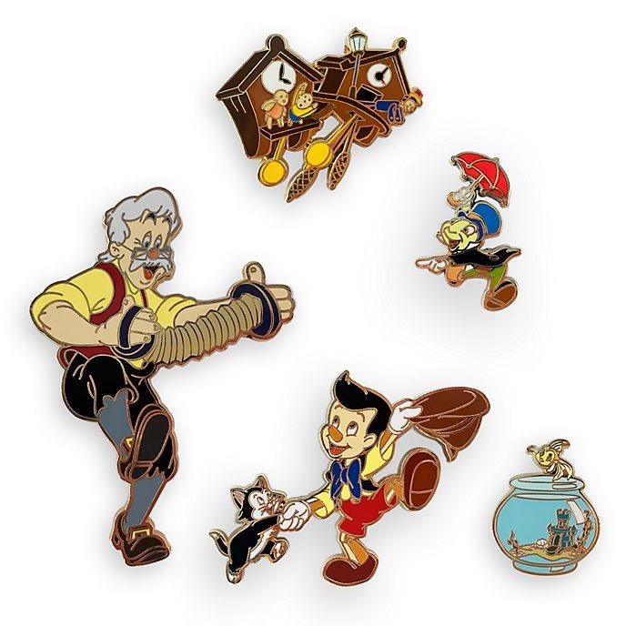 Set de pins de edición limitada Pinocho, Disney Store