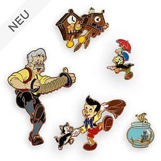 Disney Store - Pinocchio - Anstecknadelset in limitierter Edition