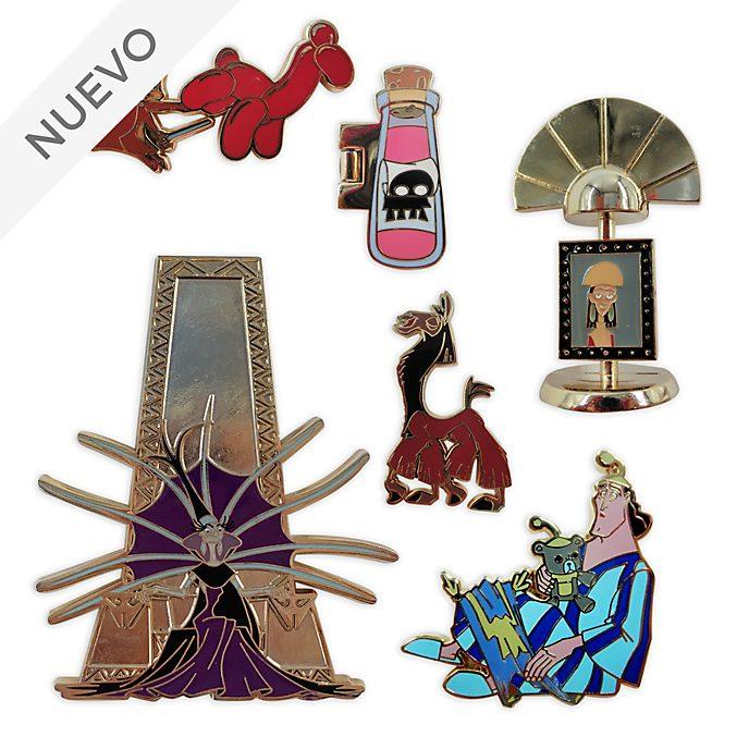 Set pins El emperador y sus locuras, edición limitada, Disney Store