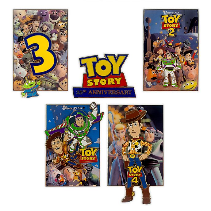 Disney Store Toy Story 25th Anniversary Limited Edition Pin Set