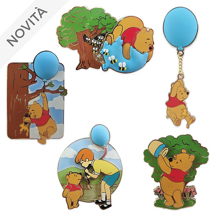 Set di pin Winnie the Pooh edizione limitata Disney Store