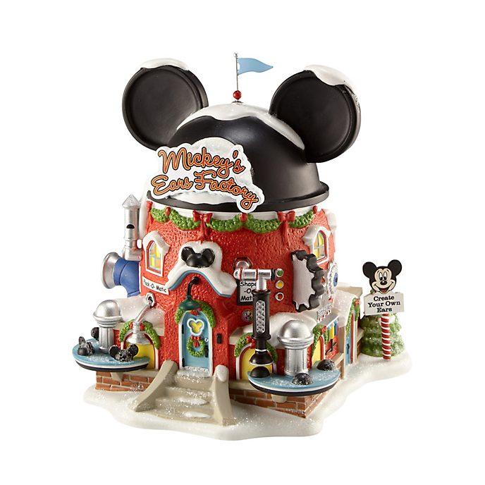 Enesco Mickey's Ears Factory Disney Village Figurine