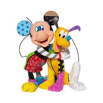 Enesco Mickey and Pluto Britto Figurine