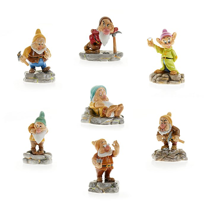 English Ladies Co. Seven Dwarfs Diamond Mine Fine China Figurine Set