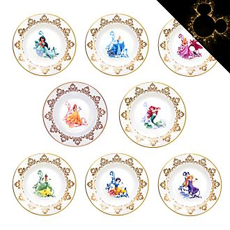 English Ladies Co. Disney Princess Fine Bone China Collector Plate Set