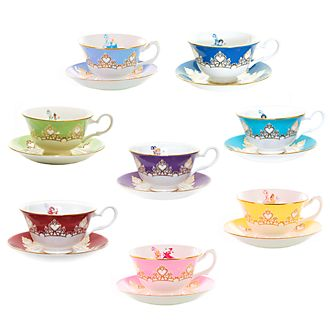 English Ladies Co. Disney Princess Fine Bone China Teacup and Saucer Set