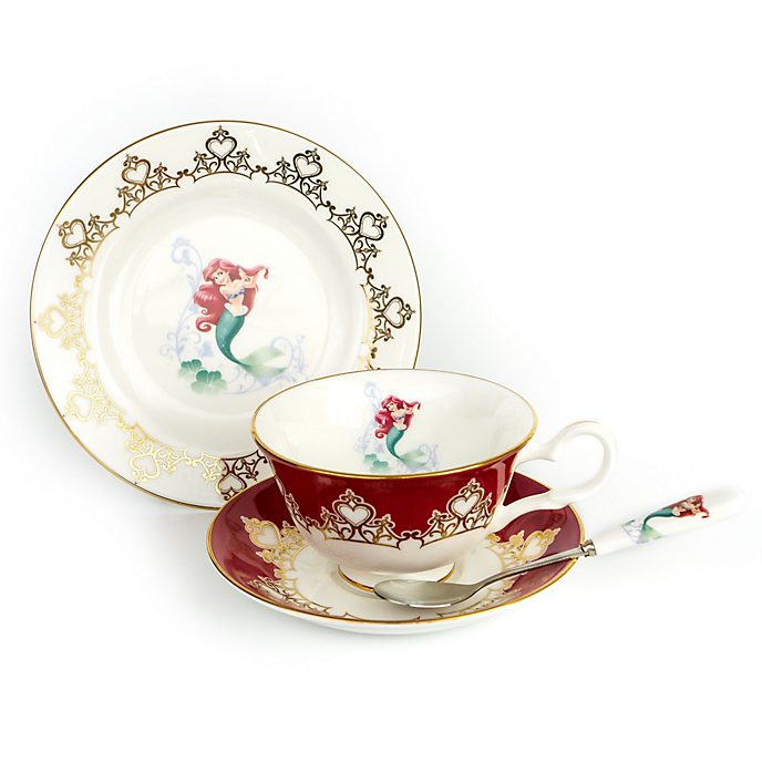 English Ladies Co. Ariel Fine Bone China Tea Set, The Little Mermaid