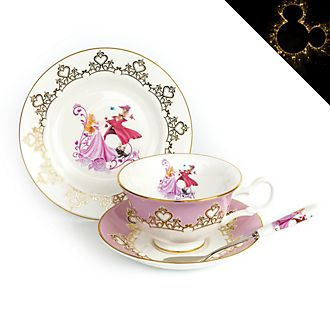 English Ladies Co. Aurora Fine Bone China Tea Set, Sleeping Beauty