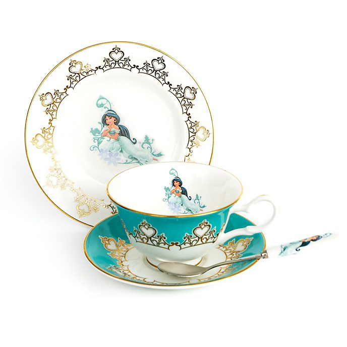 English Ladies Co. Princess Jasmine Fine Bone China Tea Set, Aladdin