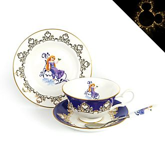 English Ladies Co. Rapunzel Fine Bone China Tea Set, Tangled