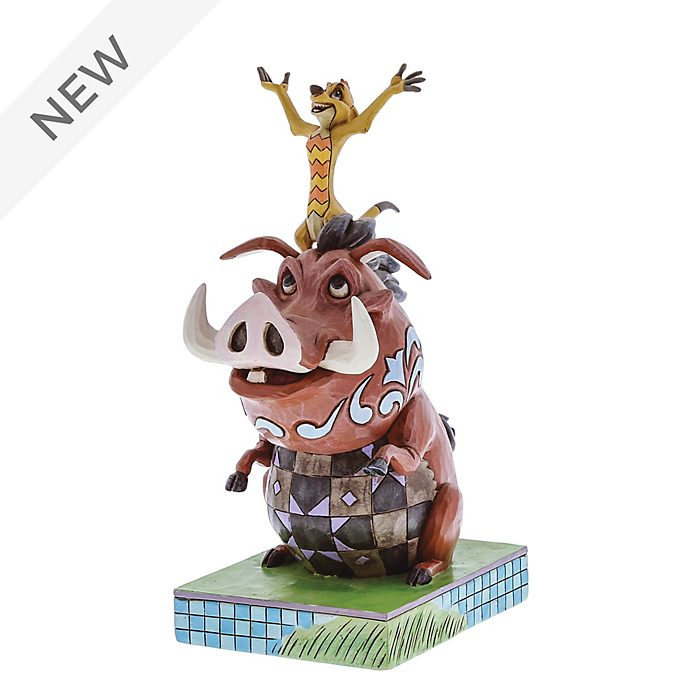 Enesco Timon and Pumbaa Carefree Cohorts Disney Traditions Figurine