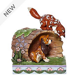 Enesco Fox and Hound Log Disney Traditions Figurine