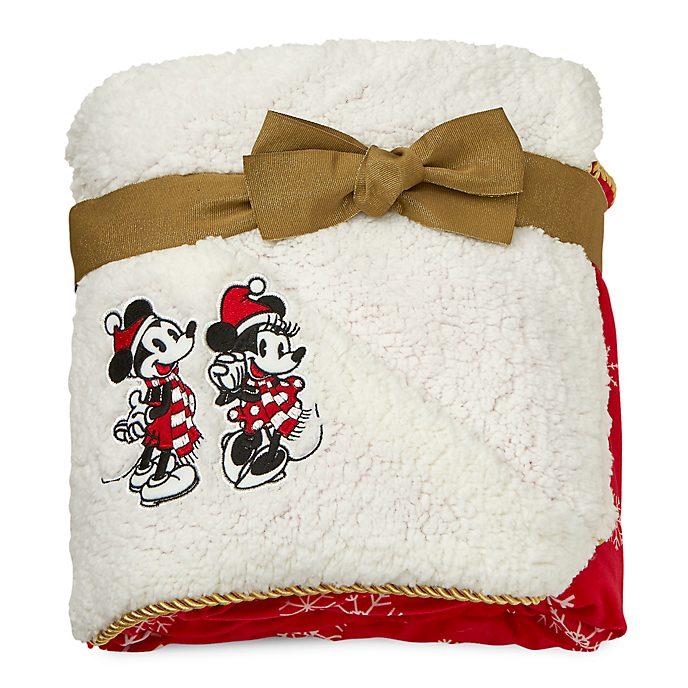 Disney Store - Holiday Cheer - Micky und Minnie - Tagesdecke aus Fleece