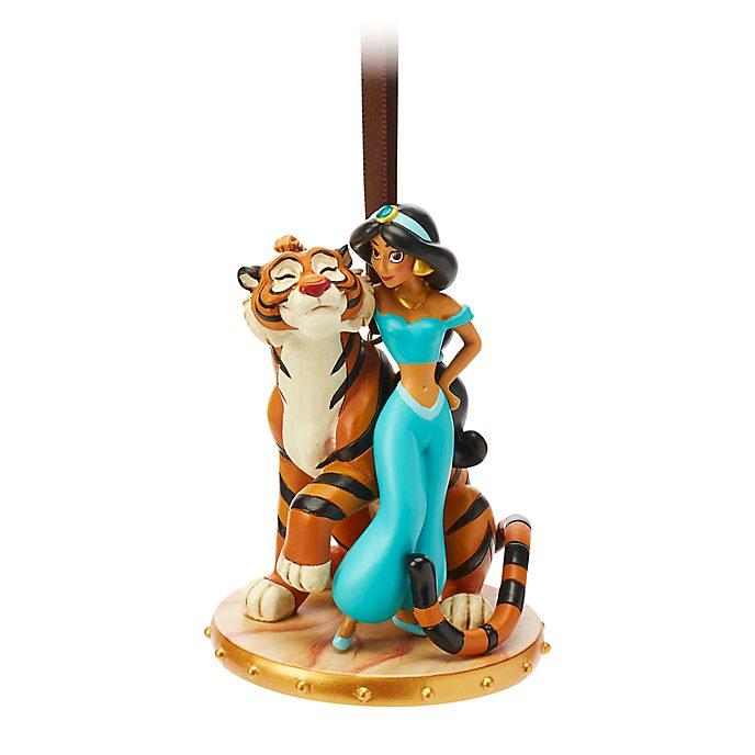Adorno colgante princesa Jasmine y Rajá, Disney Store
