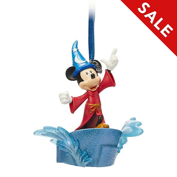 Disney Store - Micky Maus als Zauberlehrling - Leuchtendes Dekorationsstück zum Aufhängen