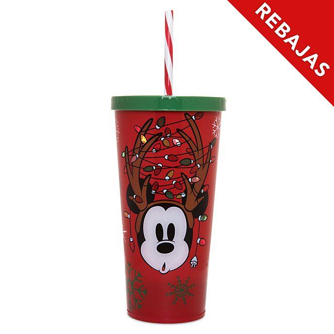 Vaso con pajita iluminado Mickey Mouse, Holiday Cheer, Disney Store