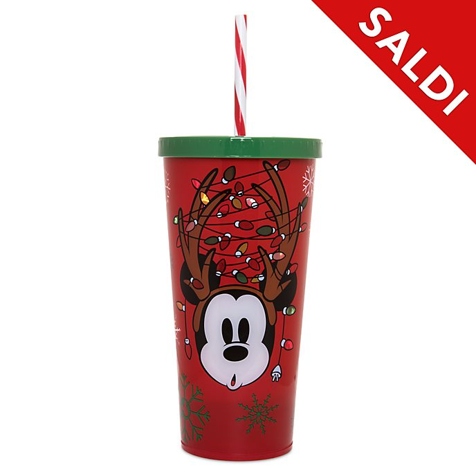 Bicchiere che si illumina con cannuccia Holiday Cheer Topolino Disney Store