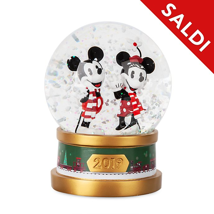 Palla di neve Topolino e Minni Holiday Cheer Disney Store