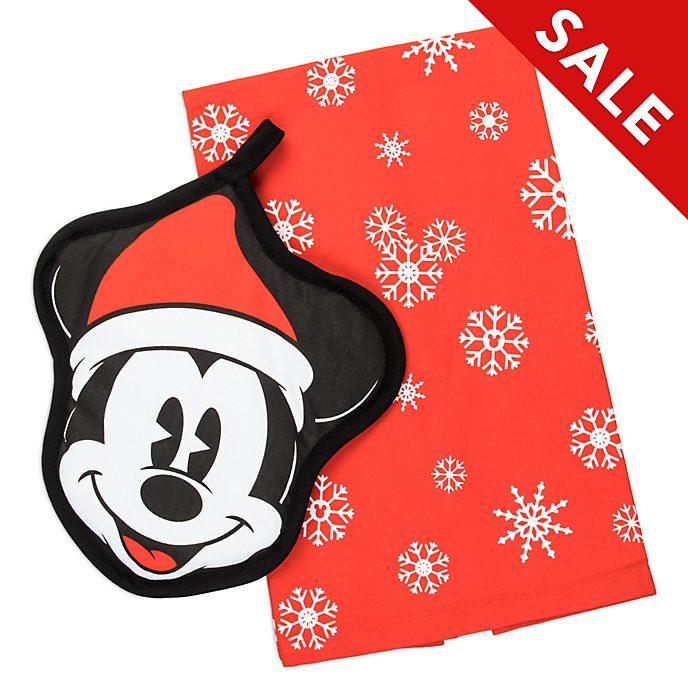 Disney Store - Holiday Cheer - Micky Maus - Set aus Topflappen und Küchenhandtüchern