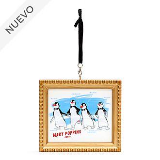 Adorno colgante pingüinos camareros, Mary Poppins, Ink & Paint, Disney Store