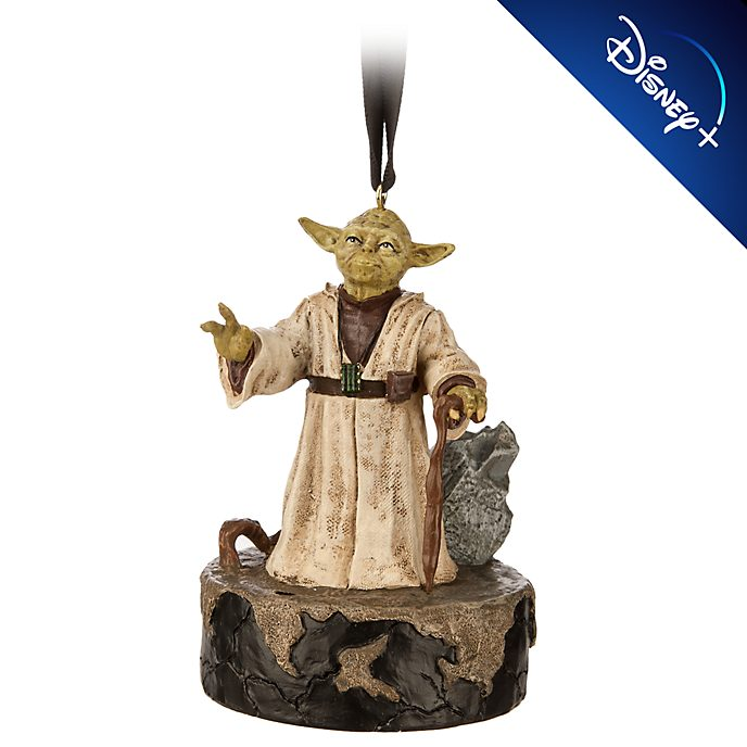 Disney Store Yoda Talking Hanging Ornament, Star Wars