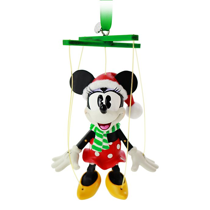 Disney Store Minnie Mouse Festive Hanging Ornament