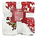Disney Store Mickey and Minnie Holiday Cheer Fleece Throw