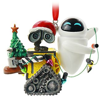Disney Store WALL-E and EVE Festive Hanging Ornament