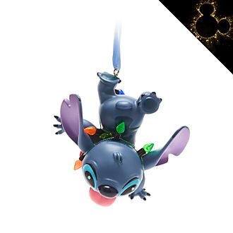 Disney Store Stitch Festive Hanging Ornament