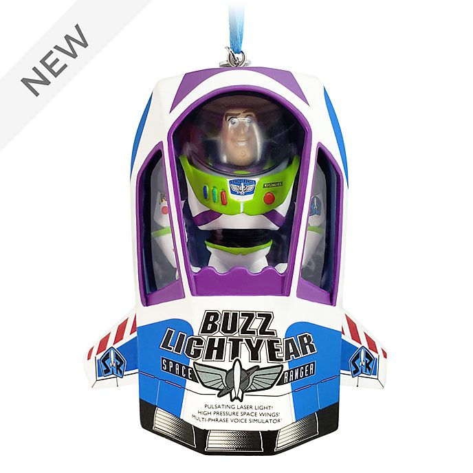 Disney Store Buzz Lightyear Talking Hanging Ornament