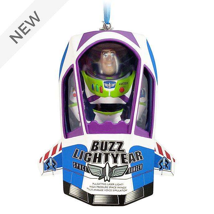 Disney Store Buzz Lightyear Talking Hanging Ornament