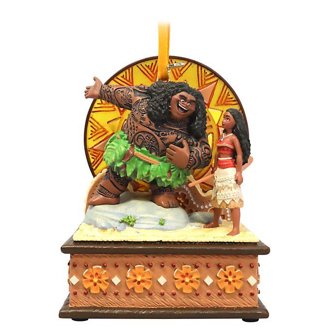 Disney Store Moana and Maui Singing Hanging Ornament