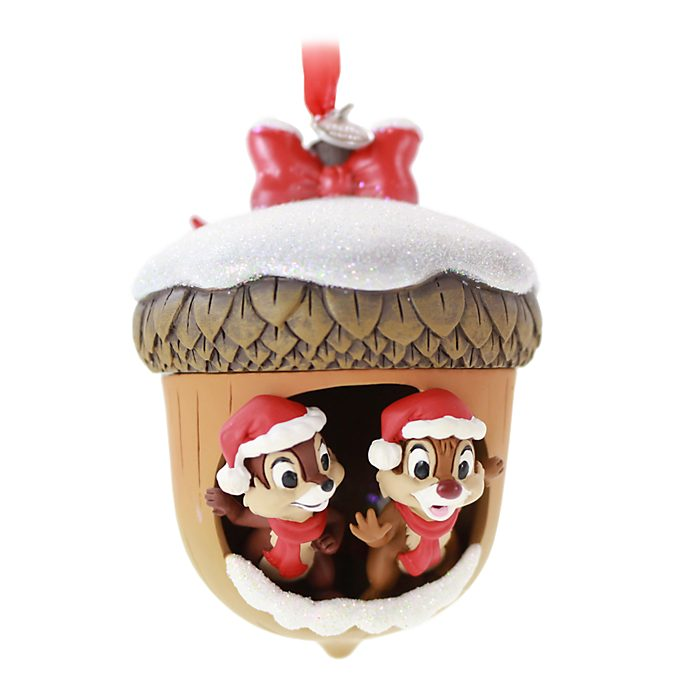 Disney Store Chip 'n' Dale Festive Hanging Ornament