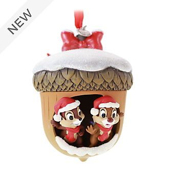 Disney Store Chip 'n' Dale Festive Hanging Ornament