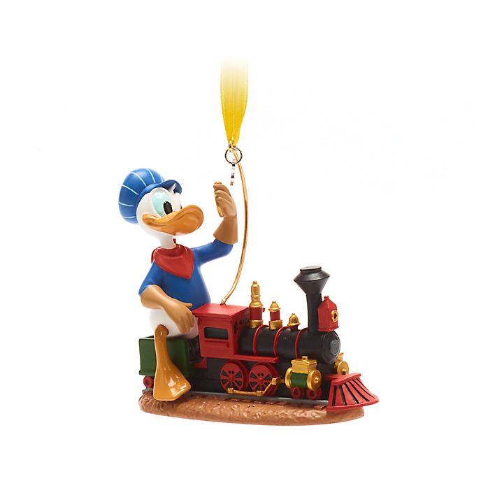 Disney Store Donald Duck Train Hanging Ornament