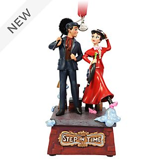 Disney Store Mary Poppins and Bert Singing Hanging Ornament