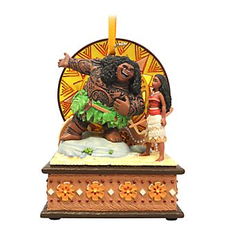Disney Store - Vaiana und Maui - Singendes Dekorationsstück zum Aufhängen