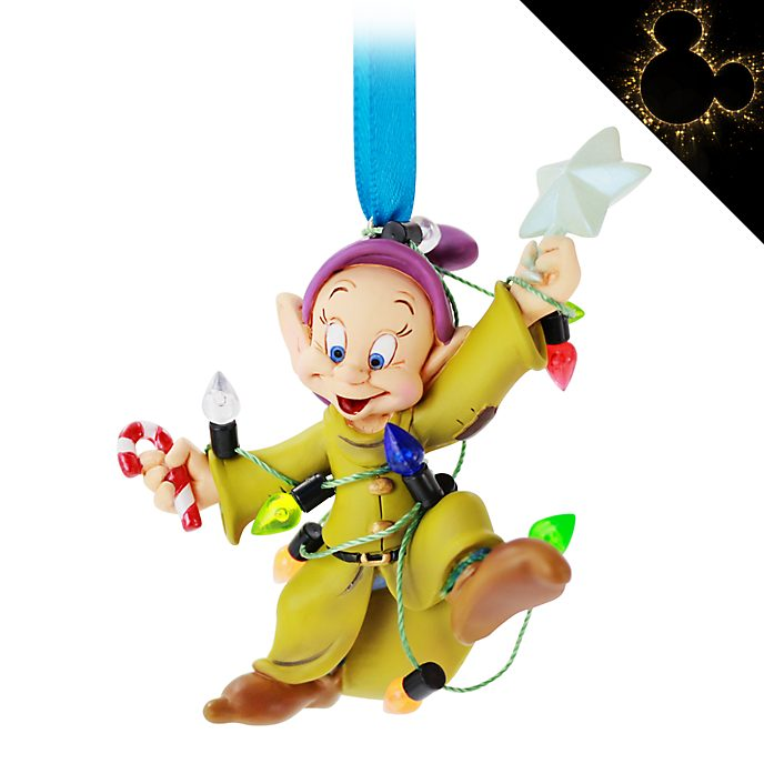 Disney Store Dopey Festive Hanging Ornament