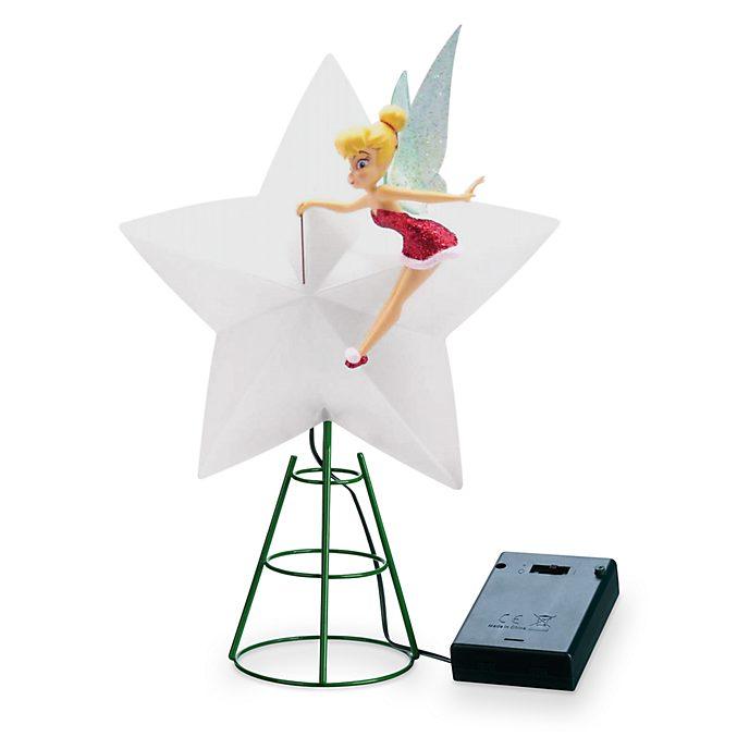Walt Disney World Cime d'arbre de Noël lumineuse Clochette, Holiday Cheer