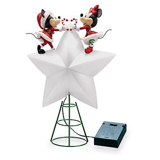 Walt Disney World Mickey and Minnie Holiday Cheer Light-Up Tree Topper