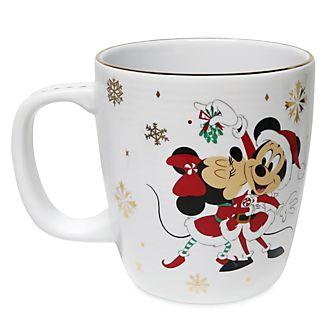 Taza Mickey y Minnie, Holiday Cheer, Disney Store