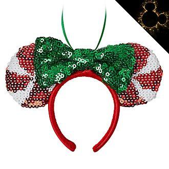 Disney Store - Minnie Maus - Festlicher Haarreif mit Ohren - Dekorationsstück zum Aufhängen