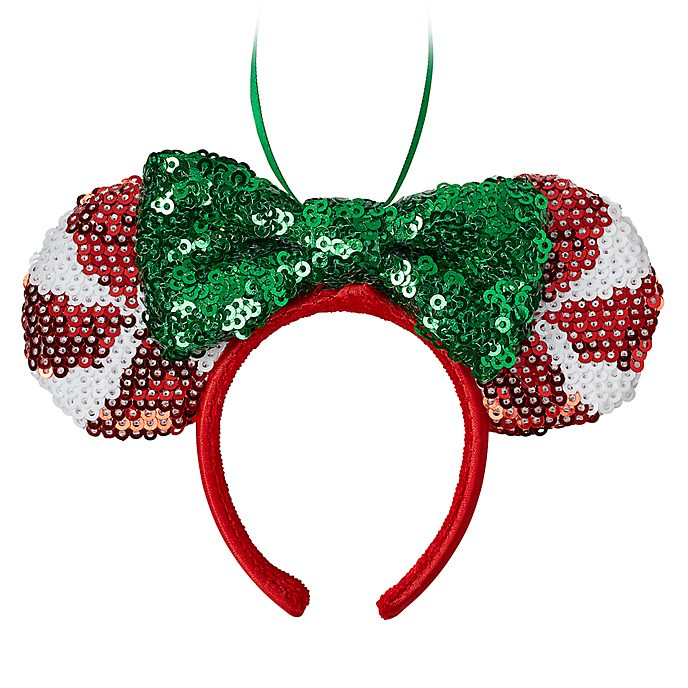 Disney Store Minnie Mouse Festive Ears Headband Hanging Ornament