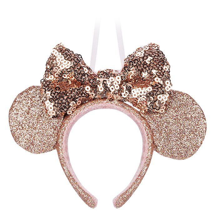 Disney Store Décoration oreilles de Minnie dorées à suspendre