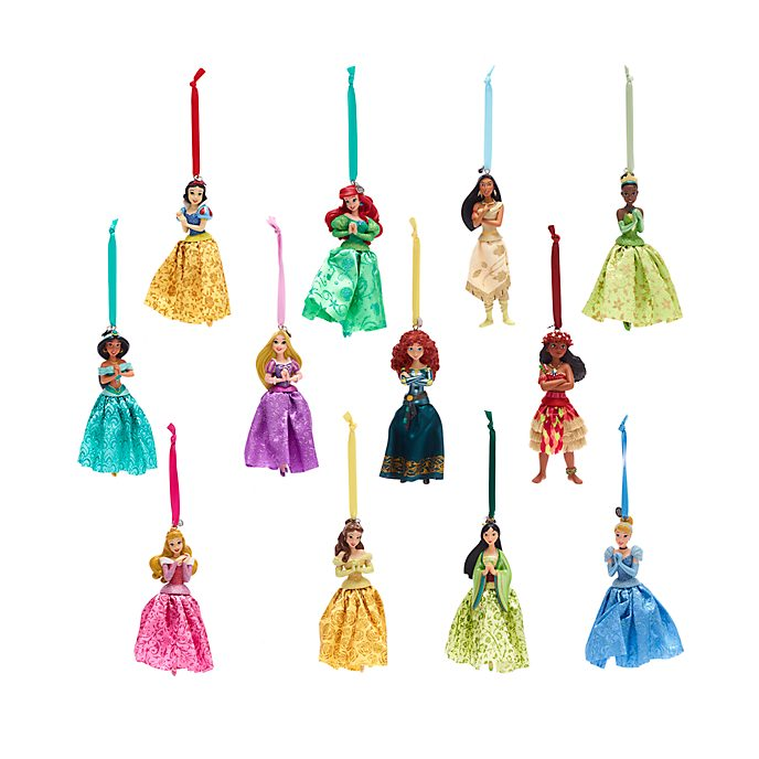 Disney Store Disney Princess Hanging Ornaments, Set of 12